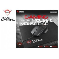 MOUSE TRUST GXT 782 GAMING MOUSE & MOUSE PAD