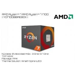 AMD RYZEN 7 1700 3.0GHz (3.7GHz TURBO) 8 NUCLEOS / 16 HILOS TPD 65W (AM4)