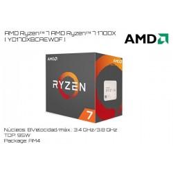 AMD RYZEN 7 1700X 3.4GHz (3.8GHz TURBO) 8 NUCLEOS / 16 HILOS TPD 95W (AM4)