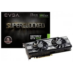 T.V. EVGA GEFORCE GTX 1070 SUPERCLOCKED GAMING 8GB GDDR5 (08G-P4-5173-KR)