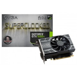T.V. EVGA GEFORCE GTX 1050 Ti SUPERCLOCKED GAMING 4GB GDDR5