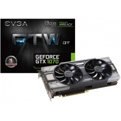 T.V. EVGA GEFORCE GTX 1070 FTW DT GAMING 8GB GDDR5 (08G-P4-6274-KR) ACX 3.0 & LED