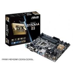 M.B. ASUS B150M-A D3 (LGA1151) DDR3/DDR3L