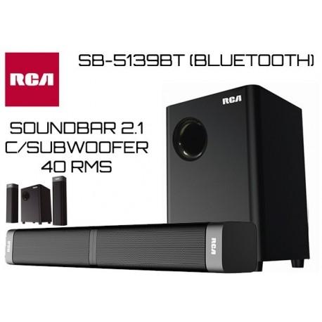 RCA SOUND BAR 2.1 SB-5139BT C/SUBWOOFER 40W RMS (BLUETOOTH)
