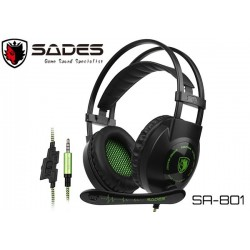 AURICULARES GAMER SADES SA-801 (3.5MM) (BLACK)