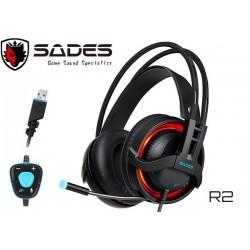 AURICULARES GAMER SADES R2 (USB) (MULTILIGHT LED EFFECT)