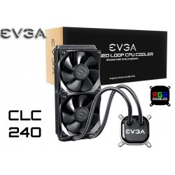 WATER COOLING EVGA CLC 240 (240MM) RGB LED (400-HY-CL24-V1)