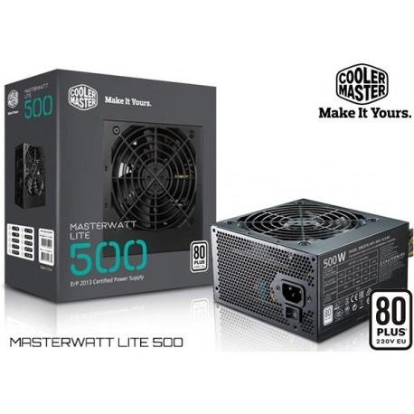 FUENTE DE PODER COOLER MASTER MASTERWATT LITE 500 (500W) 80PLUS WHITE