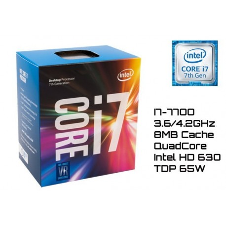 3.6GHz INTEL I7-7700 8MB CACHE (LGA1151) 7MA GEN (KABY LAKE)