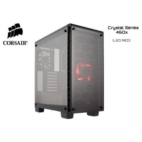 GABINETE CORSAIR CRYSTAL SERIES 460X (1xFAN RED LED) S/FUENTE