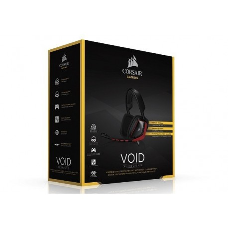 AURICULARES GAMER CORSAIR VOID Surround Hybrid Stereo Gaming Headset with Dolby 7.1 USB Adapter