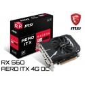 T.V. MSI RADEON RX 560 AERO ITX 4G OC