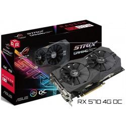 T.V. ASUS RADEON RX 570 4GB GAMING (OC) (ROG-STRIX-RX570-O4G-GAMING)
