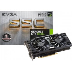 T.V. EVGA GEFORCE GTX 1050TI SSC GAMING 4GB (04G-P4-6255-KR)
