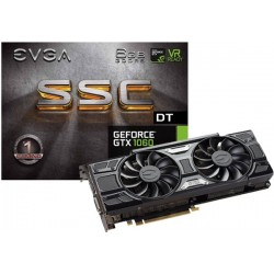 T.V. EVGA GEFORCE GTX 1060 SSC DT GAMING, 6GB GDDR5, ACX 3.0 & LED (06G-P4-6265-KR)