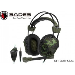 AURICULARES GAMER SADES SA-921PLUS (3.5MM+ADAPTADOR)
