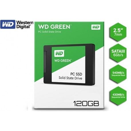 120GB SSD 2.5 WESTERN DIGITAL GREEN (WDS120G2G0A)
