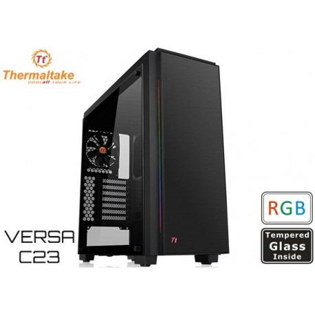GABINETE THERMALTAKE VERSA C23 RGB TEMPERATED GLASS