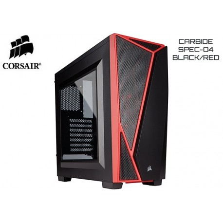 GABINETE CORSAIR CARBIDE SPEC-04 BLACK/RED