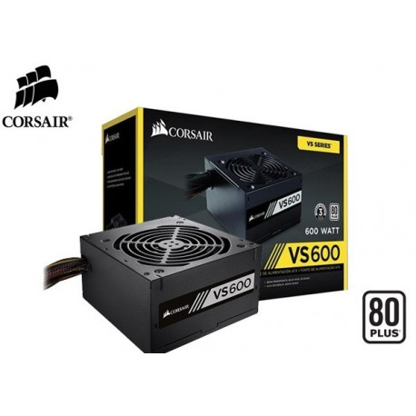 FUENTE DE PODER CORSAIR VS600 80PLUS (WHITE) 600W (CP-9020119-LA)