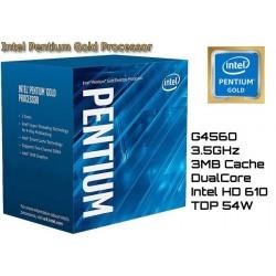 3.5GHz INTEL PENTIUM GOLD G4560 3MB CACHE (LGA1151) 7MA GEN (KABY LAKE)