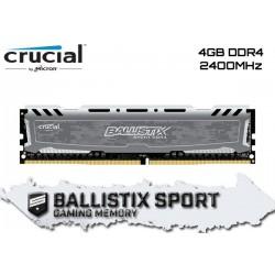 4GB DDR4 2400MHZ CRUCIAL BALLISTIX SPORT LT (GRAY)