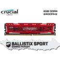 4GB DDR4 2400MHZ CRUCIAL BALLISTIX SPORT LT (RED)