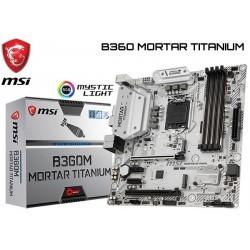 M.B. MSI B360M MORTAR TITANIUM (LGA1151) 8VA GENERACION