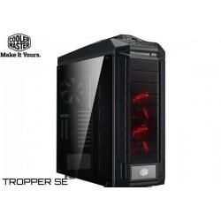 GABINETE COOLER MASTER TROPPER SE (XL-ATX, E-ATX, ATX) BLACK