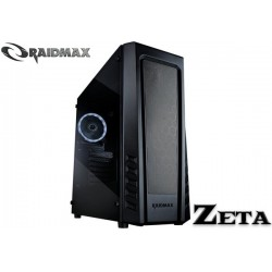 GABINETE RAIDMAX ZETA BLACK (TEMPERED GLASS)
