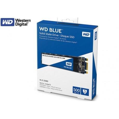 500GB SSD M.2 2280 WESTERN DIGITAL BLUE 3D NAND (WDS500G2B0B)