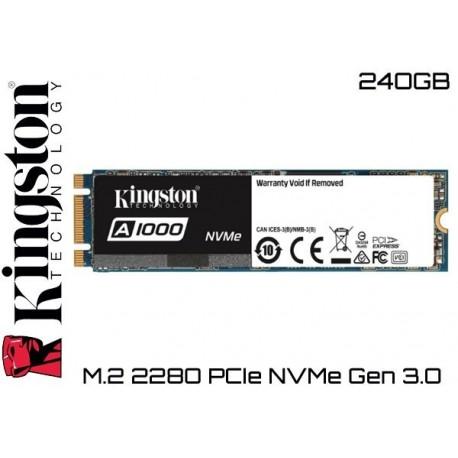 240GB SSD M.2 PCIe NVMe KINGSTON A1000 (1500MB LECTURA / 800MB ESCRITURA)