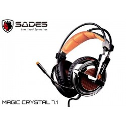 AURICULARES SADES MAGIC CRYSTAL 7.1 (VIBRACION) (USB)