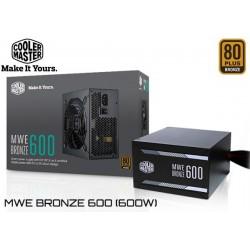 FUENTE PODER COOLER MASTER MWE BRONZE 600 (600W) 80P BRONZE
