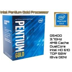 3.7GHz INTEL PENTIUM GOLD G5400 4MB CACHE (LGA1151) 8VA GEN (COFEE LAKE)