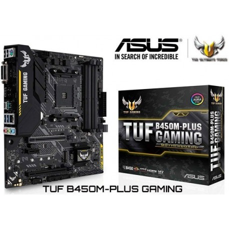M.B. ASUS TUF B450M-PLUS GAMING (AM4) DDR4 (RYZEN)