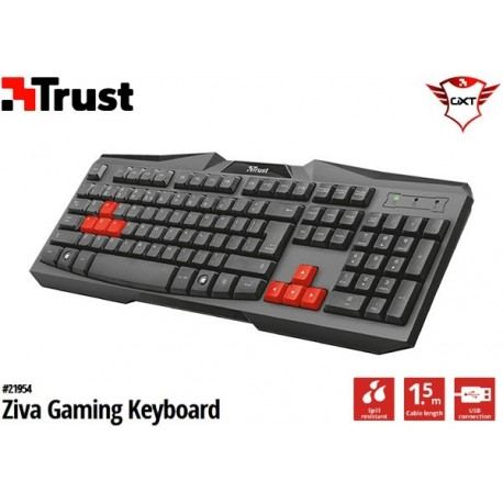 TECLADO TRUST ZIVA GAMING KEYBOARD (USB)