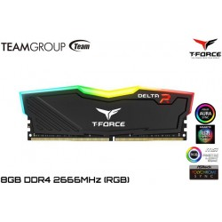 8GB DDR4 2666MHZ TEAMGROUP T-FORCE DELTA R RGB (BLACK)