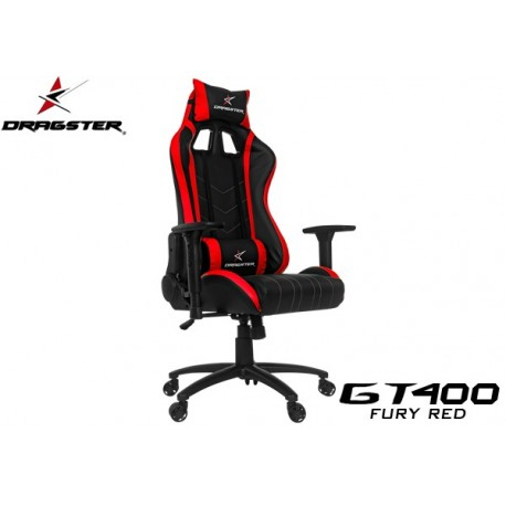 SILLA GAMER DRAGSTER GT400 FURY RED
