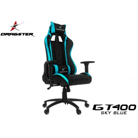 SILLA GAMER DRAGSTER GT400 SKY BLUE