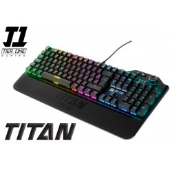 TECLADO T1 TIER ONE TITAN ULTRA BLUE MECHANICAL