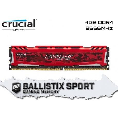 4GB DDR4 2666MHZ CRUCIAL BALLISTIX SPORT LT (RED) (BLS4G4D26BFSE)