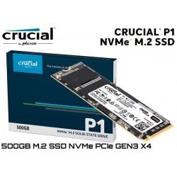 500GB M.2 SSD NVMe PCIE GEN3 X4 CRUCIAL P1 (CT500P1SSD8) (1.900MB/950MB)