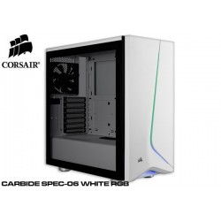 GABINETE CORSAIR CARBIDE SPEC-06 RGB WHITE (TG) CC-9011147-WW