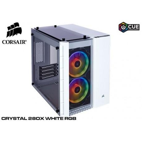 GABINETE CORSAIR CRYSTAL SERIES 280X RGB WHITE (TG) CC-9011137-WW