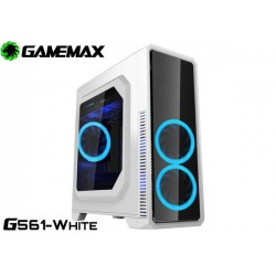 GABINETE GAMEMAX G561-WHITE (WHITE/BLUE FAN)
