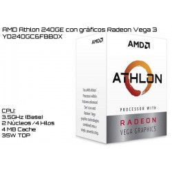 AMD ATHLON 240GE 3.5GHz DUAL CORE + RADEON VEGA 3 (TDP 35W) (AM4) (BOX)