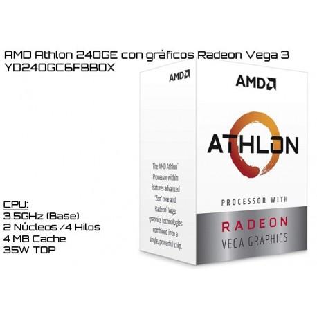 AMD ATHLON 240GE 3.5GHz DUAL CORE + RADEON VEGA 3 (TDP 35W) (AM4) (BOX)