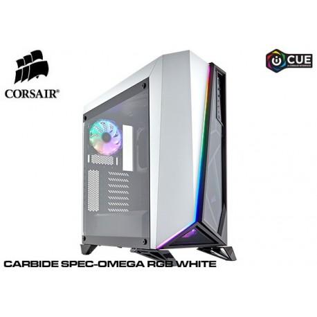 GABINETE CORSAIR CARBIDE SPEC-OMEGA RGB WHITE (TG) CC-9011141-WW