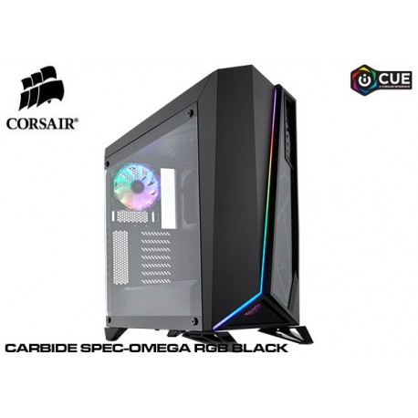GABINETE CORSAIR CARBIDE SPEC-OMEGA RGB WHITE (TG) CC-9011141-WW